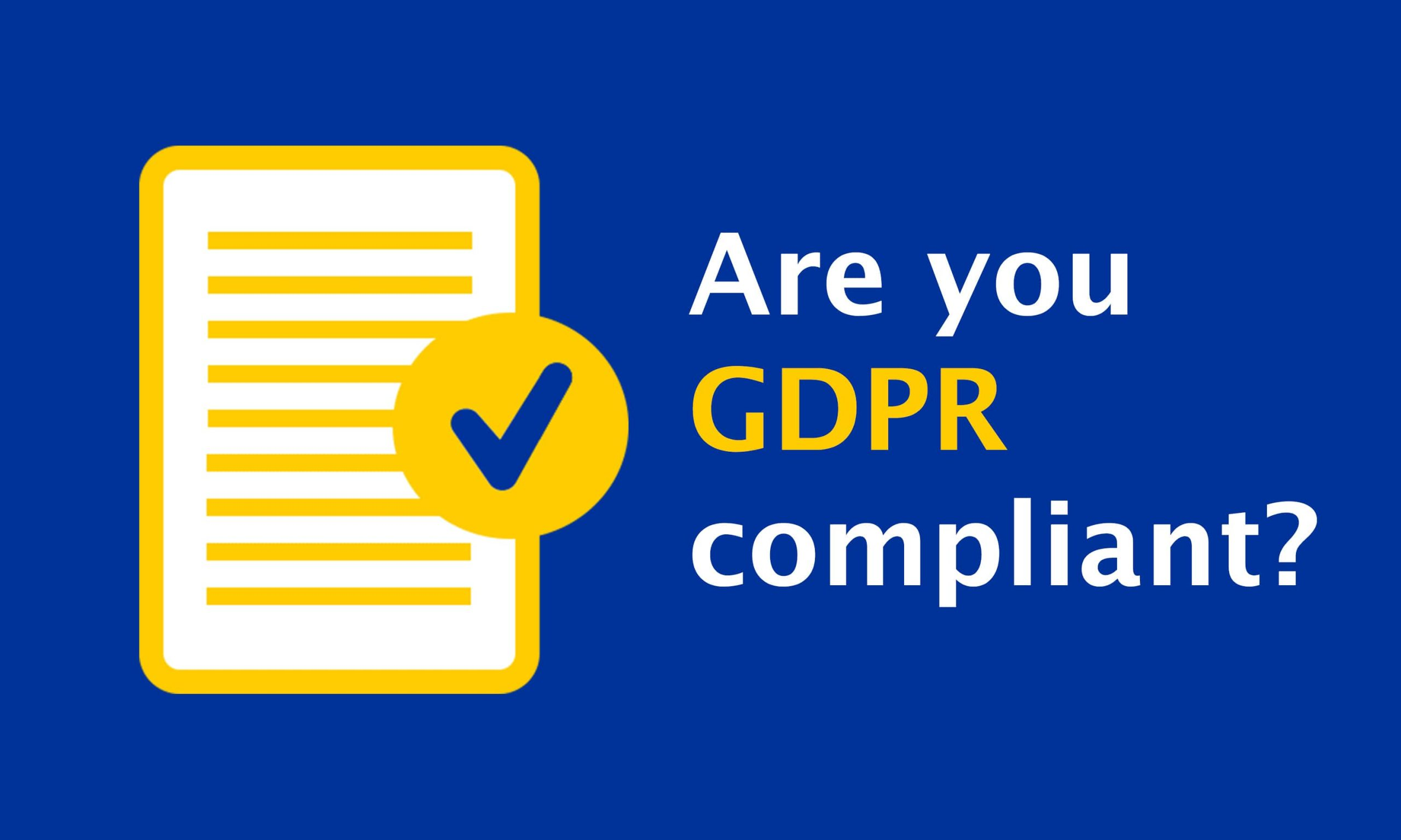Concerns with GDPR compliance